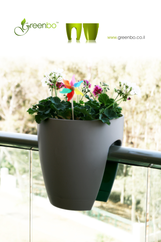 GREENBO railing planter grey