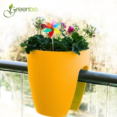 GREENBO railing planter yellow