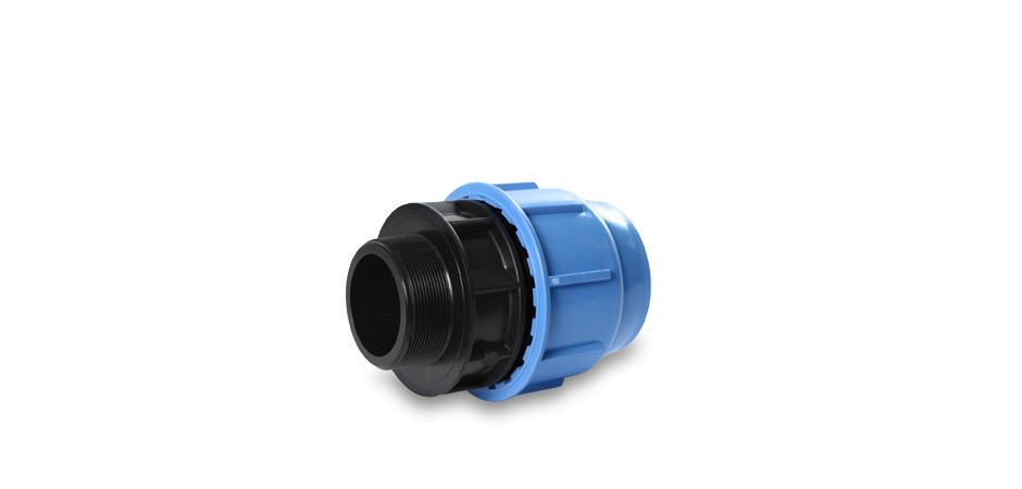 "PP connector 20mm x 3/4"" male thread, 16 bar"